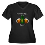 Fueled by Be Women's Plus Size V-Neck Dark T-Shirt