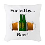 Fueled by Beer Woven Throw Pillow