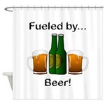 Fueled by Beer Shower Curtain