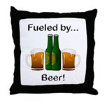 Fueled by Beer Throw Pillow