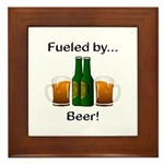 Fueled by Beer Framed Tile