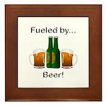 Fueled by Beer Framed Tile