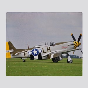 P-51 Mustang (2) Throw Blanket