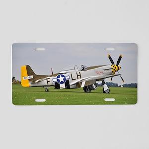 P-51 Mustang (2) Aluminum License Plate