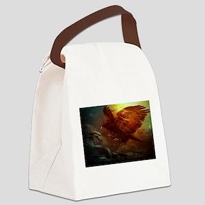 king cobra,eagle Canvas Lunch Bag