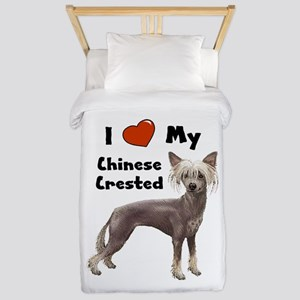 Chinese Crested I Love My Twin Duvet