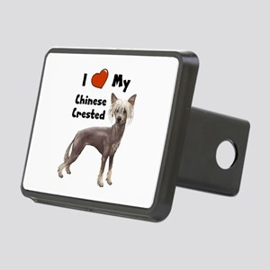 Chinese Crested I Love My Rectangular Hitch Cover