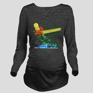 Pickleball Smash Long Sleeve Maternity T-Shirt