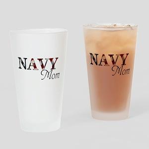 Mom Navy_flag  Drinking Glass