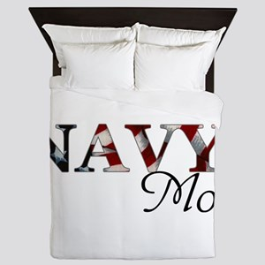 Mom Navy_flag  Queen Duvet
