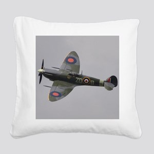 Spitfire Mk.IXb Square Canvas Pillow