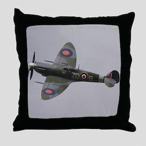 Spitfire Mk.IXb Throw Pillow