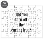 Did you turn off the curling iron? Puzzle