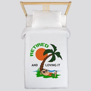 RETIRED AND LOVING IT Twin Duvet