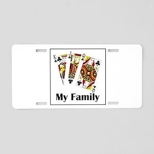 My Family Aluminum License Plate