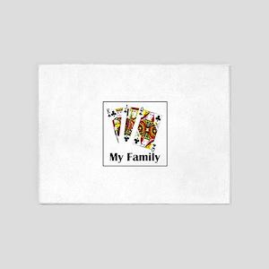 My Family 5'x7'area Rug