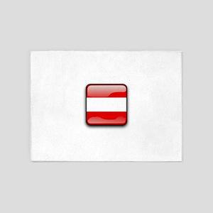 Flag of Austria 5'x7'Area Rug