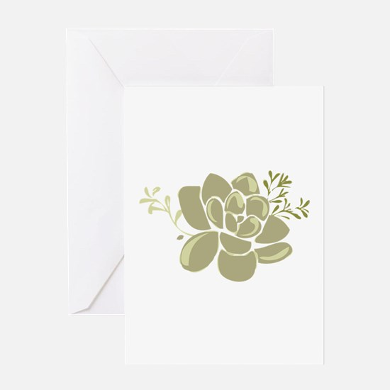 Succulents Base Greeting Cards