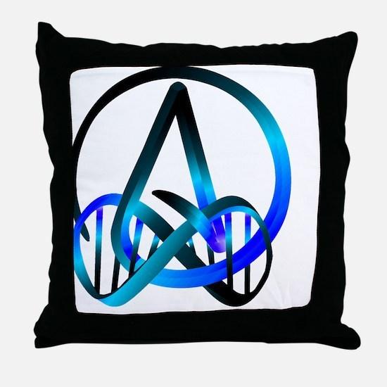 Atheist Forever Blue Throw Pillow
