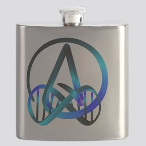 Atheist Forever Blue Flask