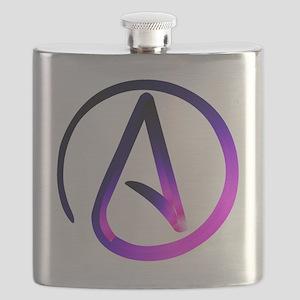 Atheist pink & purple Flask