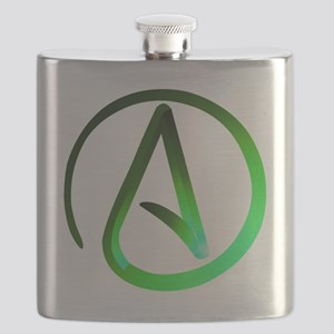Green Atheist Flask