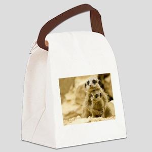 meerkat Canvas Lunch Bag
