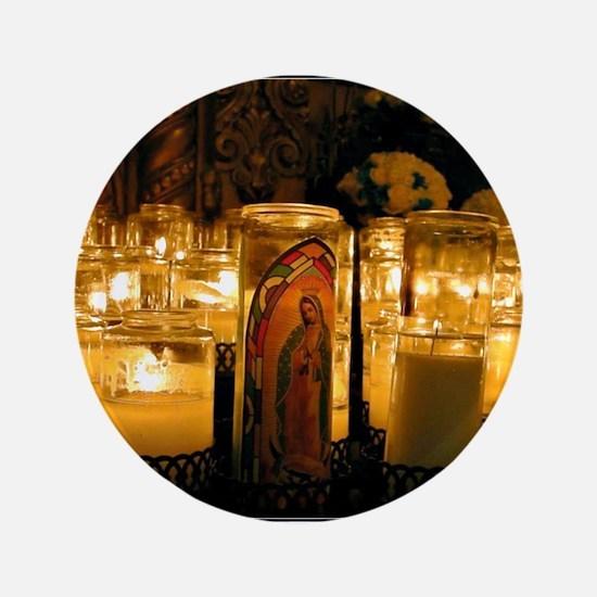 """Virgen de Guadalupe.jpg 3.5"""" Button"""