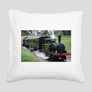 Steam Train Square Canvas Pillow