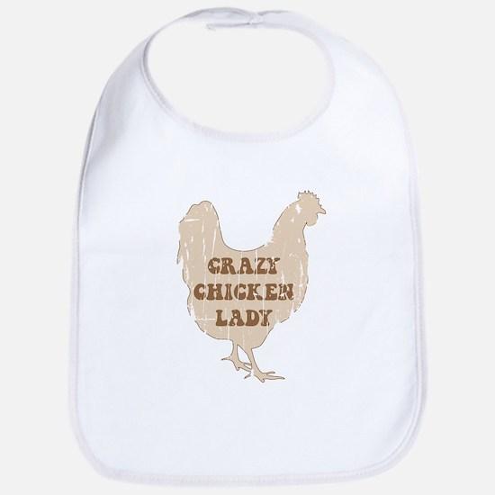 Crazy Chicken Lady Bib