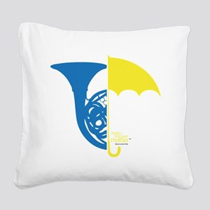 HIMYM French Umbrella Square Canvas Pillow