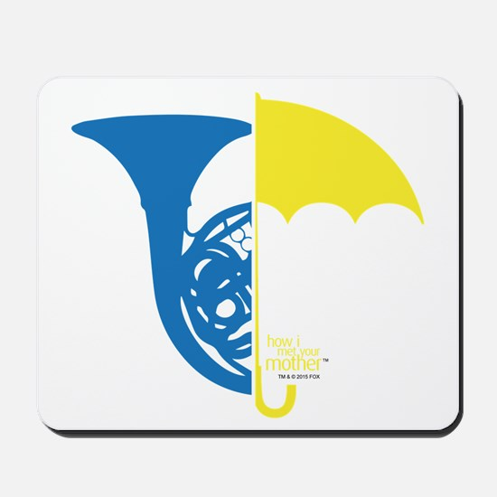 HIMYM French Umbrella Mousepad