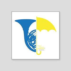 "HIMYM French Umbrella Square Sticker 3"" x 3"""