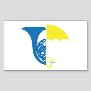 HIMYM French Umbrella Sticker (Rectangle)