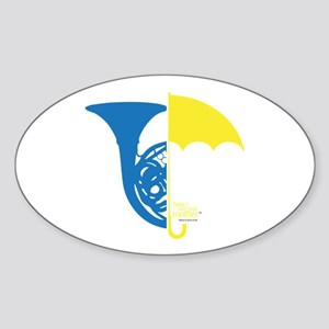 HIMYM French Umbrella Sticker (Oval)