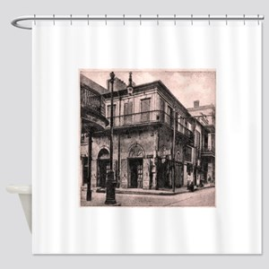 French Quarter Absinthe House Shower Curtain