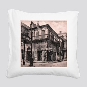 French Quarter Absinthe House Square Canvas Pillow