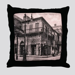 French Quarter Absinthe House Throw Pillow