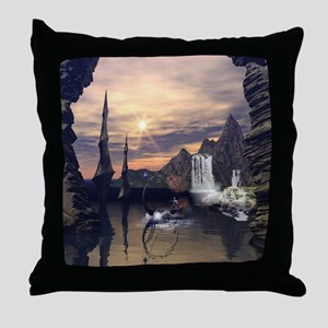 Eleven drives with a lamps boat Throw Pillow
