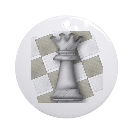 Chess The Most Poweful Piece Ornament (Round)