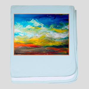 Landscape, colorful art baby blanket