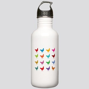 Colorful Chickens Stainless Water Bottle 1.0L