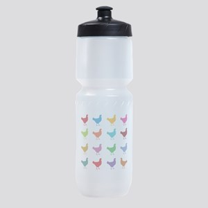 Colorful Chickens Sports Bottle