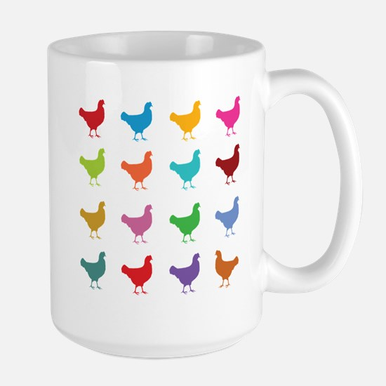 Colorful Chickens Mugs