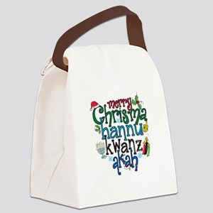 Merry Chrismahannukwanzakah Canvas Lunch Bag