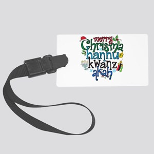 Merry Chrismahannukwanzakah Luggage Tag
