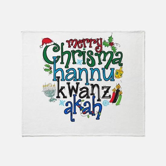 Merry Chrismahannukwanzakah Throw Blanket