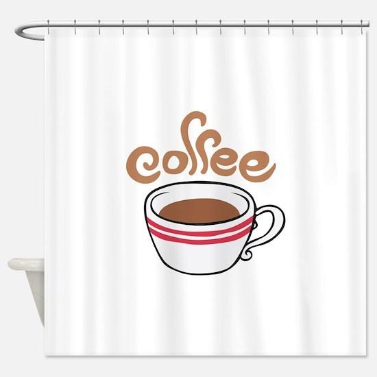 HOT COFFEE Shower Curtain