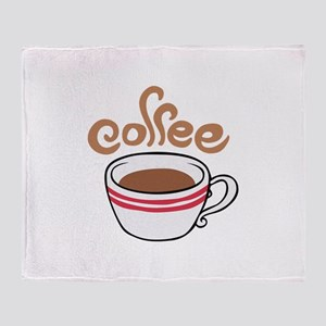 HOT COFFEE Throw Blanket