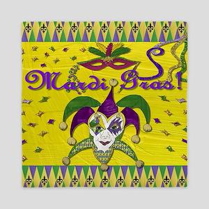 Mardi Gras Jester Mask Queen Duvet